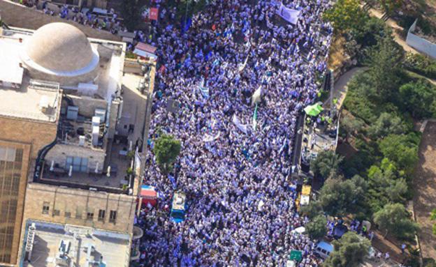 יום ירושלים, ארכיון (צילום: דוברות המשטרה, היחידה האווירית, חדשות)