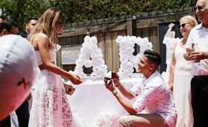 סטטיק מציע נישואים לשרית פולק (צילום: מתוך עמוד האינסטגרם @staticofficial, instagram)
