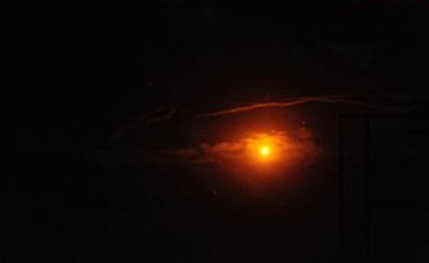 תיעוד התקיפה הלילית בסוריה (צילום: סאנא, סוכנות ידיעות סורית, חדשות)
