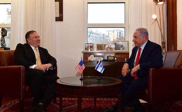 """נתניהו ומזכיר המדינה האמריקני מייק פומפאו (צילום: קובי גדעון / לע""""מ, חדשות)"""