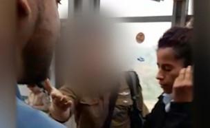 """החייל שלא הורשה לעלות לרכבת מספר את גרסתו (צילום: מתוך """"חדשות הבוקר"""" , קשת 12)"""
