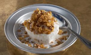 גלידת חלב וקורנפלקס  (צילום: אנטולי מיכאלו, יחסי ציבור)