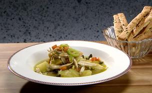 מרק עוף עם ירקות שורש (צילום: מאסטר שף, שידורי קשת)