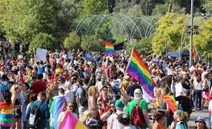 היום: מצעד הגאווה בירושלים 2019. ארכיון (צילום: הבית הפתוח ירושלים, חדשות)