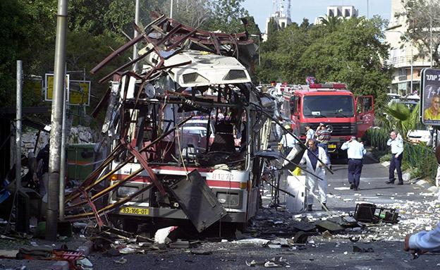 זירת הפיגוע, ארכיון (צילום: פלאש 90, חדשות)