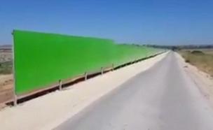 ממגנים  את הכבישים (צילום: חדשות)
