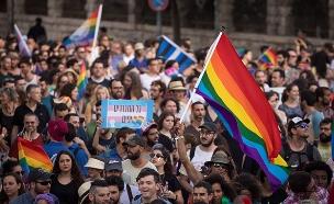 שידור ישיר ממצעד הגאווה (צילום: יונתן זינדל, פלאש 90, חדשות)