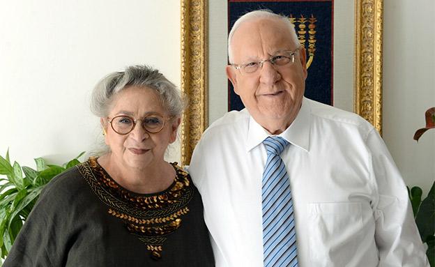 """נחמה ריבלין ז""""ל ובעלה רובי (צילום: מארק ניימן, לע""""מ, חדשות)"""