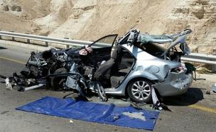 """תאונה בכביש 90 (ארכיון) (צילום: דוברות מד""""א, חדשות)"""