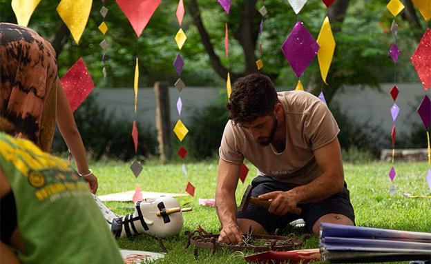 ההכנות לפסטיבל הטראנס מהגדולים בישראל (צילום: תומר אלטמן, חדשות)