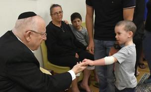 """הילד שריגש את הנשיא ריבלין בשבעה על נחמה (צילום: מתוך """"חדשות הבוקר"""" , קשת 12)"""