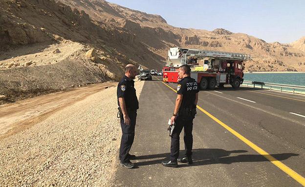 תאונה בכביש 90 (צילום: דוברות המשטרה, חדשות)
