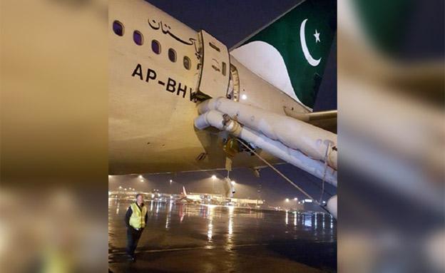 חיפשה שירותים ופתחה את דלת המטוס (צילום: התקשורת בפקיסטאן, חדשות)