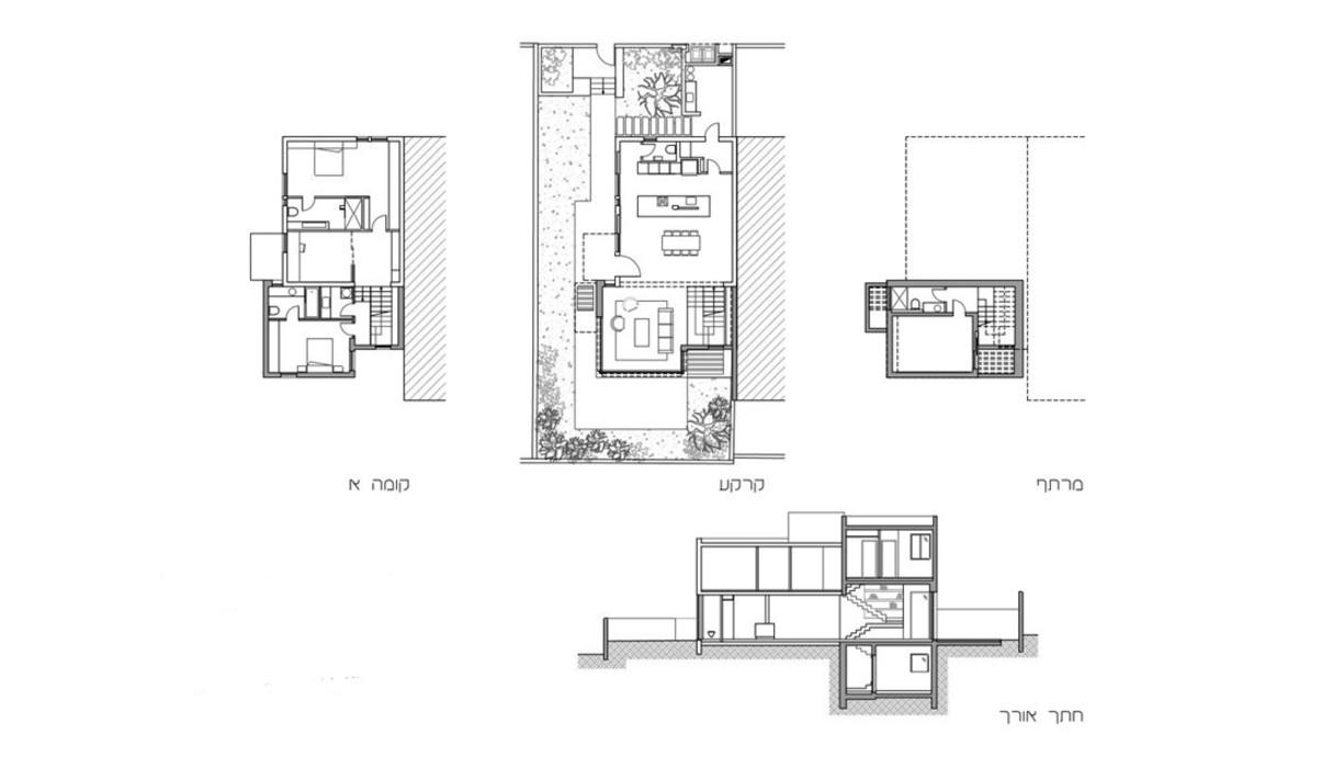 בית ברמת השרון, עיצוב תמיר חטיבה, תוכנית אדריכלית