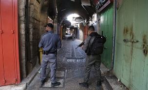 זירת הפיגוע (צילום: דוברות המשטרה, חדשות)