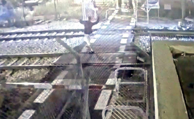 תיעוד האירוע (צילום: מוקד הבטיחות של רכבת ישראל, חדשות)