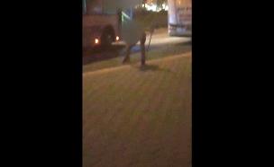 תקיפת נהג אוטובוס בבית שמש (צילום: עד ראייה, חדשות)