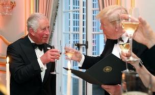 טראמפ והנסיך צ'ארלס (צילום: רויטרס, חדשות)