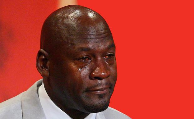 מייקל ג'ורדן הבוכה (צילום: מתוך יוטיוב OfficialHoophall )