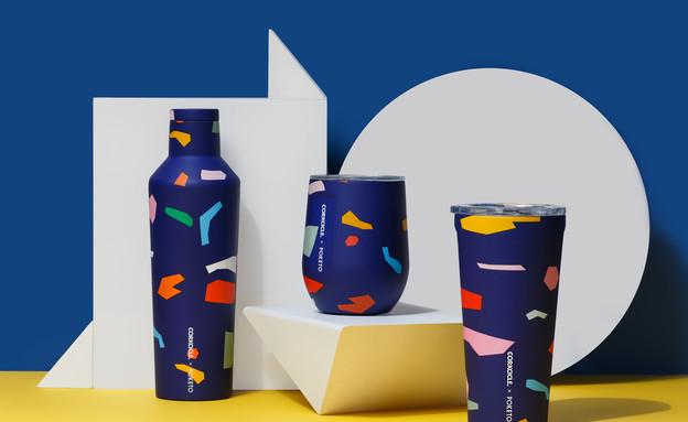 גם אני רוצה, מדור קיץ, בקבוק תרמי Classic Canteen Blue Confetti 47 (צילום: יחצ)