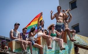 מצעד הגאווה בתל אביב 2019 (צילום: Noam Revkin Fenton/Flash90, חדשות)