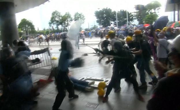 דיכוי אחת ההפגנות בשבוע שעבר (צילום: חדשות)