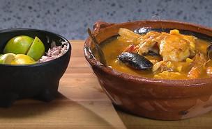 """מרק דגים מקסיקני (צילום: מתוך """"מאסטר שף 8"""", קשת 12)"""