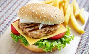 המבורגר חזה עוף (צילום: HungryPixel, ShutterStock)