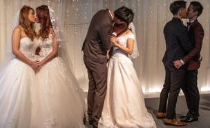חתונה גאה בטאיוון (צילום: Carl Court, Getty Images)