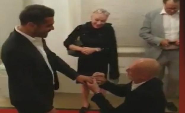 """מוטי רייף הציע נישואין לבן זוגו (צילום: מתוך """"ערב טוב עם גיא פינס"""", שידורי קשת)"""