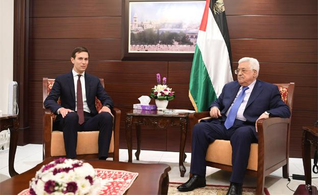 אבו מאזן וקושנר, ארכיון (צילום: סוכנות הידיעות הפלסטינית, חדשות)