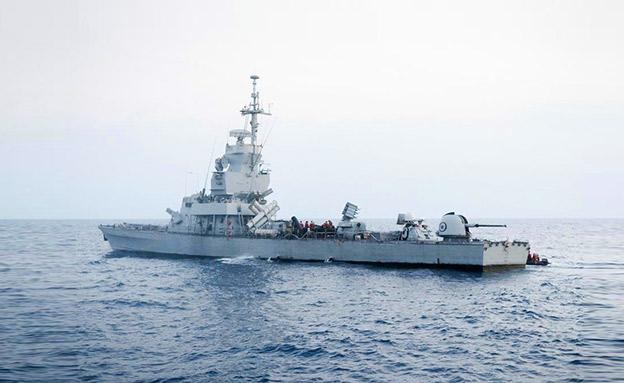 """ספינת חיל הים בתרגיל (צילום: דובר צה""""ל, חדשות)"""