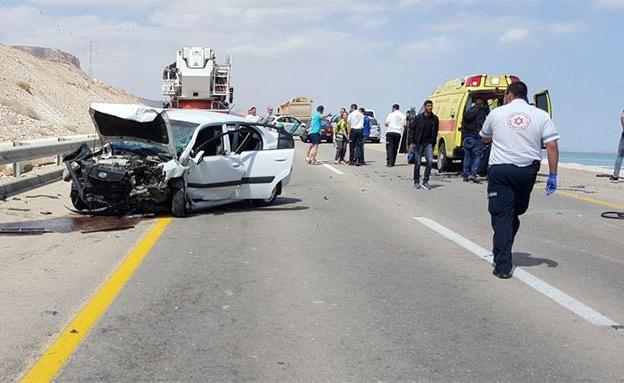 """131 נהרגו בכביש 90 בעשור האחרון (צילום: תיעוד מבצעי מד""""א, חדשות)"""