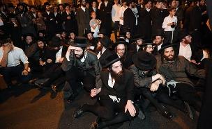 המחאה בירושלים, הערב (צילום: פלאש 90, נועם רבקין פנטון, חדשות)