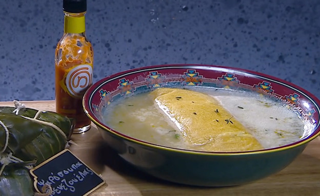 מרק דגים יווני עם כיסונים ונצואליים (צילום: מאסטר שף, שידורי קשת)