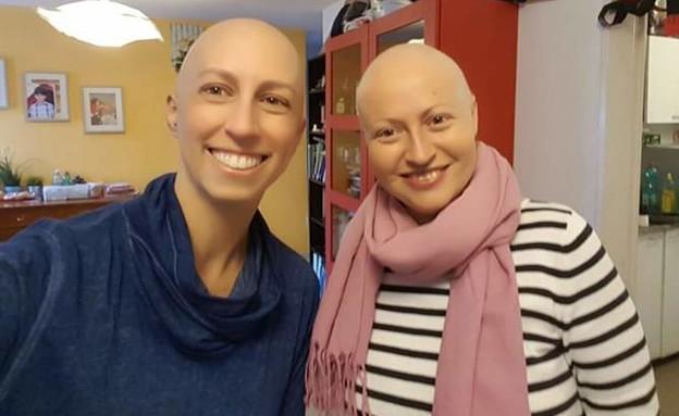 מאיה דותן מסלר עם חברתה לסרטן אולגה קלבנוב (צילום: אלבום פרטי)