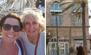 האם והבת, והבניין הנטוש (צילום: Christine Sillman, Daily mail, חדשות)