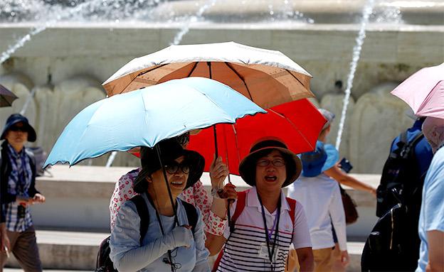 גל חום קיצוני באירופה (צילום: החדשות)
