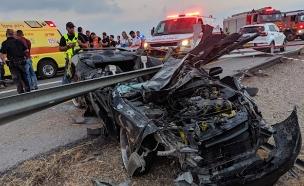 """זירת התאונה (צילום: קובי רחמים דוברות מד""""א, חדשות)"""