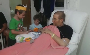 צפו בסרטוני הפרידה של האב הצעיר מבניו (צילום: באדיבות המשפחה, חדשות)