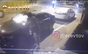 הצתת האוטו של אמיר קירל, אבא של נועה (צילום: באדיבות ערב טוב עם גיא פינס, חדשות)