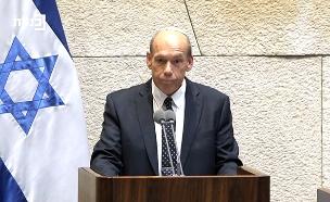 מתניהו אנגלמן בנאומו בכנסת (צילום: ערוץ הכנסת, חדשות)
