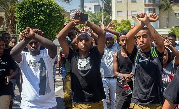 המחאה בעקבות מות הצעיר, היום (צילום: מאיר וקנין, פלאש 90, חדשות)