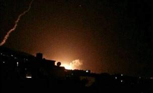 תקיפה בסוריה (צילום: רשתות חברתיות, חדשות)