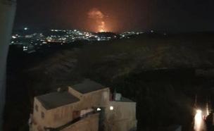 התקיפה בפרברי דמשק (צילום: ללא, חדשות)