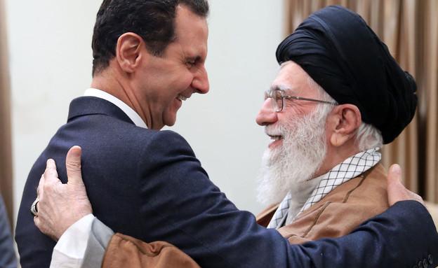 בשאר אל-אסד וחמינאי (ארכיון) (צילום: AP)