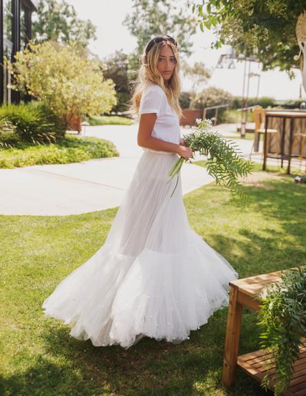 דנית גרינברג בשמלת כלה, יולי 2019 (צילום: רותם לבל לסוכנות ארטבוק)