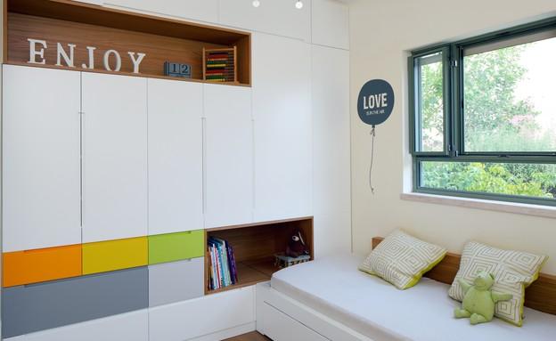 חדר ילדים, עיצוב עדי קליין, לפני (צילום: עוזי פורת)