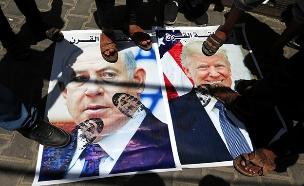 הפגנה בעזה נגד תוכנית השלום (צילום: רויטרס, חדשות)