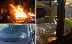 עדויות קשות על אלימות בהפגנה אמש (צילום: חדשות)